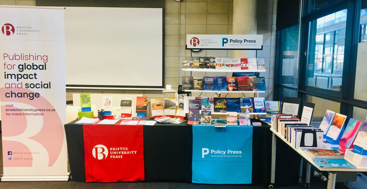 Our stand at the year's British Society of Criminology conference