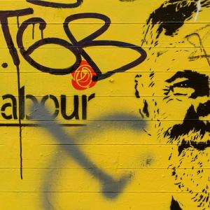 Street art of Jeremy Corbyn