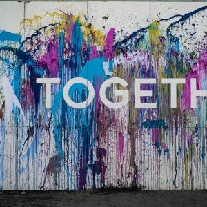 Street art saying 'together'