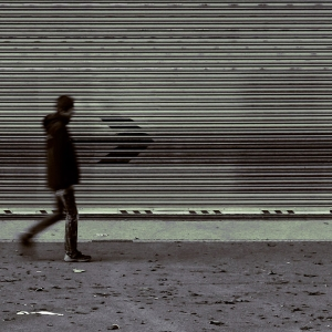 Person walking alone