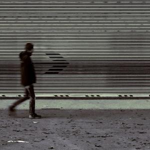 Person walking alone