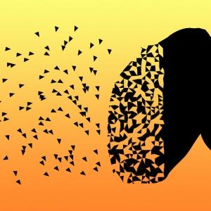 Person breaking apart