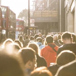 Crowded London street