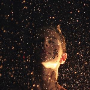 Person in rain