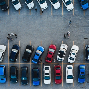 Car park Birdseye view