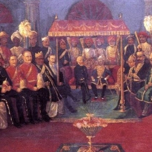 Durbar of Pudukkottai Maharaja with British officials