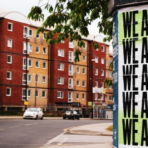 Poster saying 'We are one'