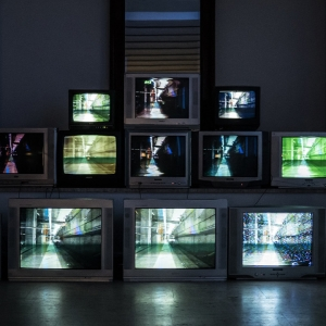 Multiple television screens