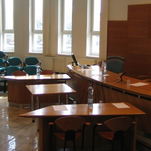 Empty tribunal room
