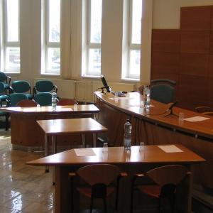 Empty tribunal room