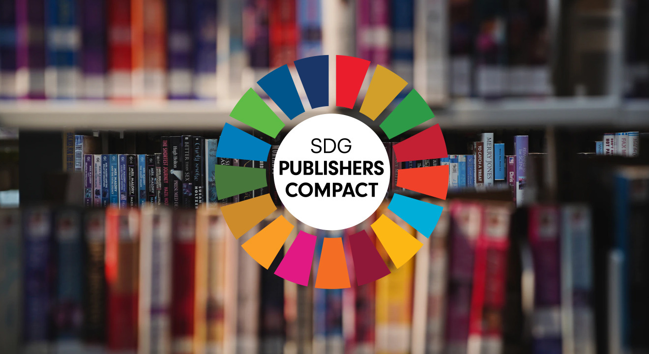 Bookshelf with the SDG publishers compact logo