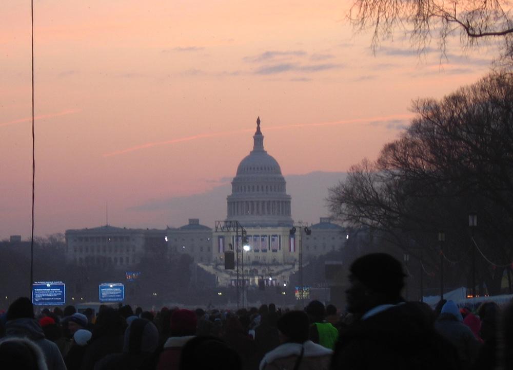 US Capitol building at dawn