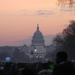 US Capitol building at dawn