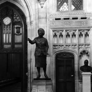 Statue of Margaret Thatcher in Westminster