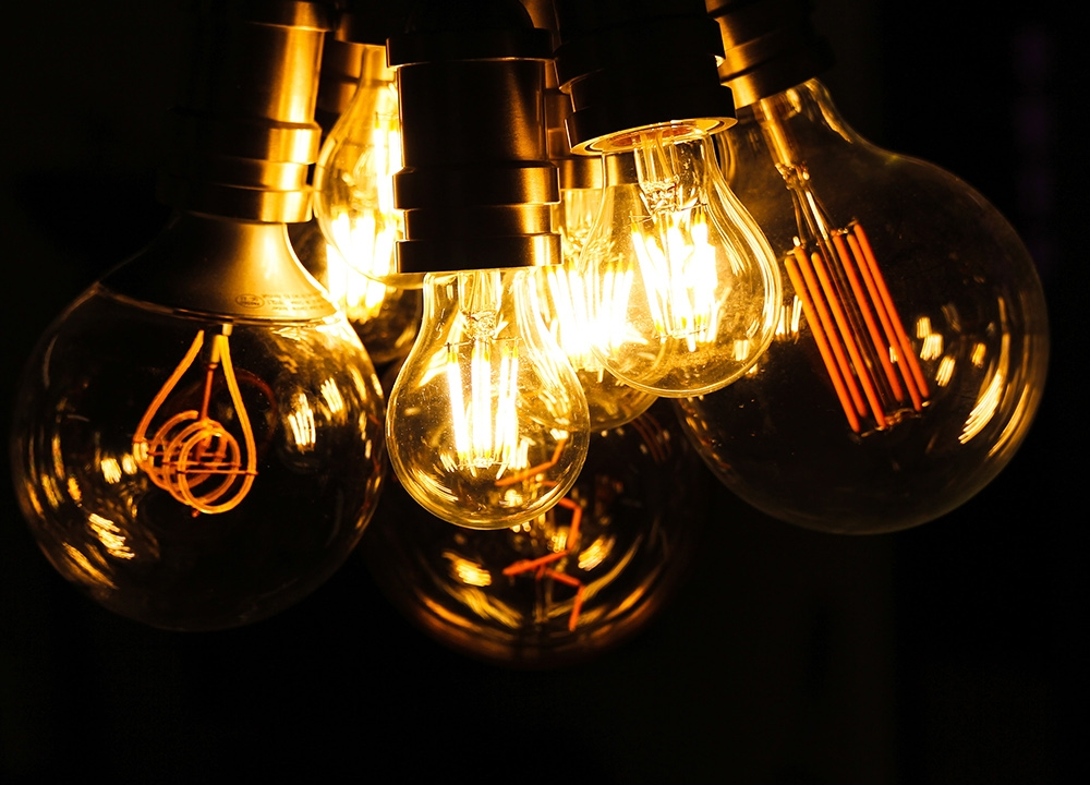 A collection of filament lightbulbs