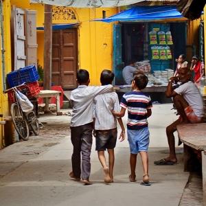 Children walking in a street