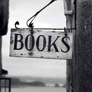 Sign saying 'books'
