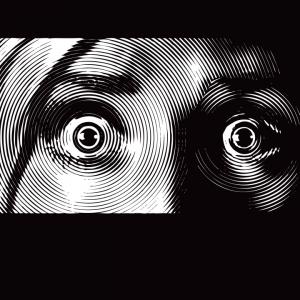 Wide eyes in fear