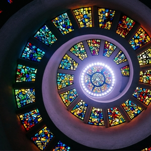 Stain glass cieling
